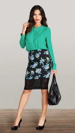 Blouse and Skirt from Justfab.com